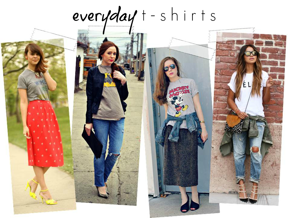 Fall trend to try how to dress up your graphic tee for Wear my t shirt