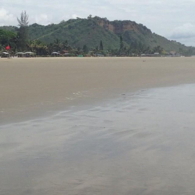 Beautiful view of Olon Beach, Ecuador
