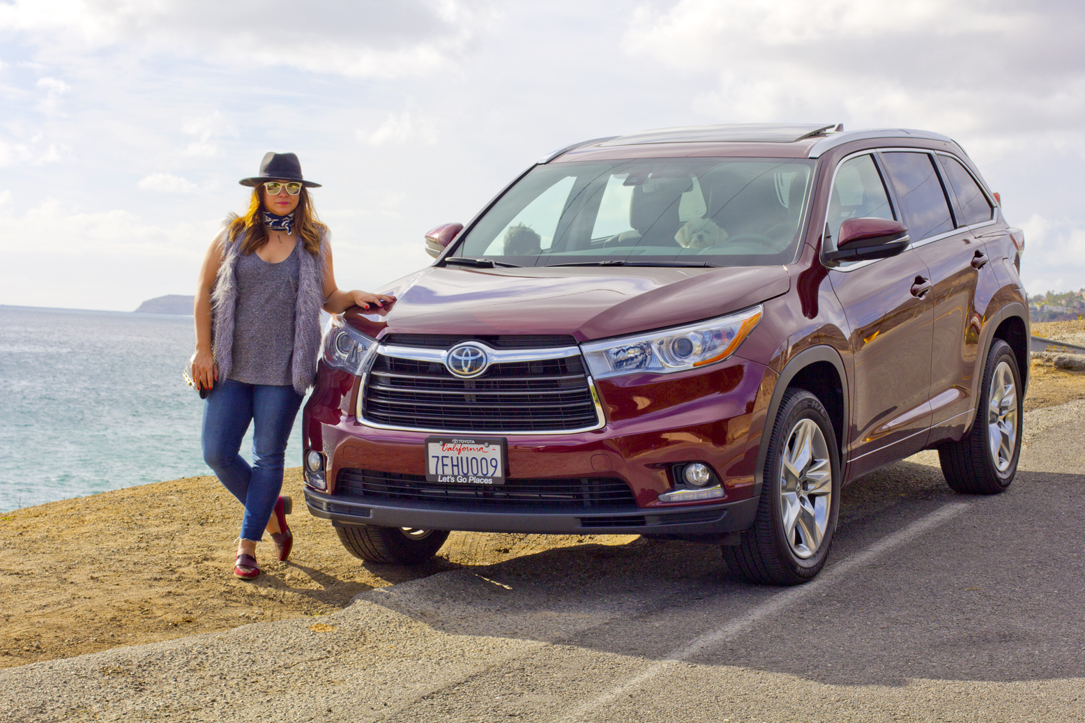Cruising on the Toyota Highlander Limited Platinum