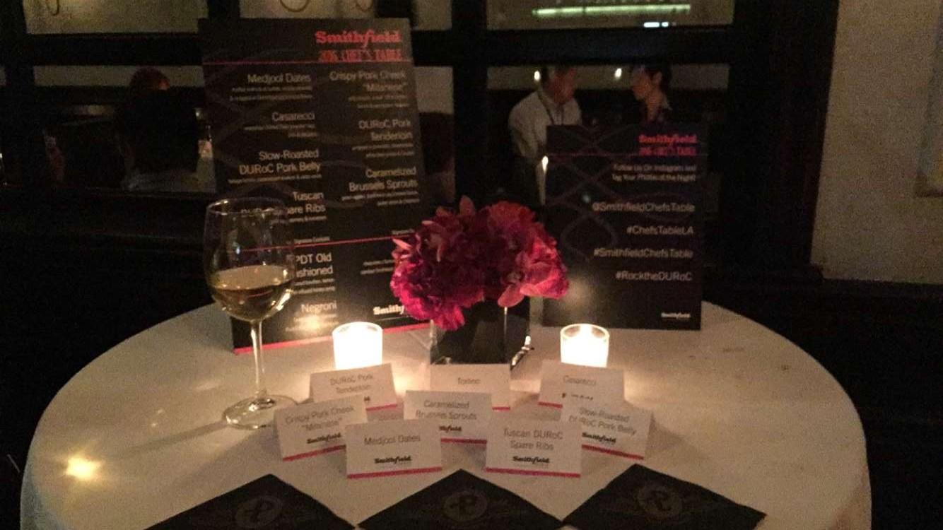 Smithfields 2016 Chef's Table event at Pistola LA